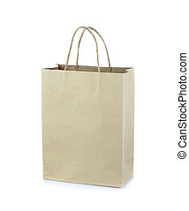 Bag paper isolated on white background