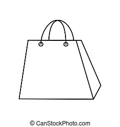 bag paper shopping isolated icon