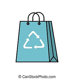 bag paper with arrows symbol ecology icon