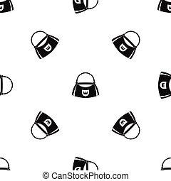 Bag pattern seamless black