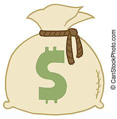 bag, penge