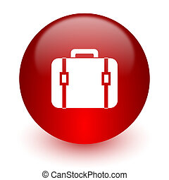 bag red computer icon on white background