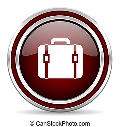 bag red glossy web icon