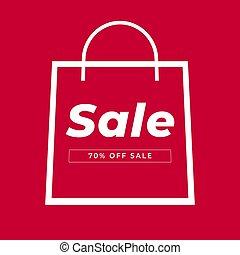 Bag Sale icon.