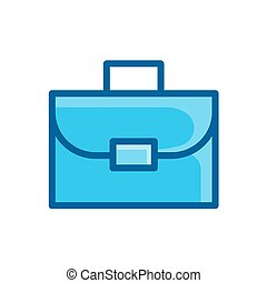 bag, suitcase business icon vector illustration isolated on white background