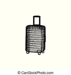 bag travel, tour logo design inspiration