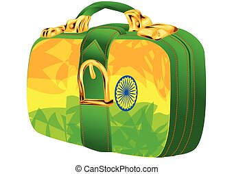 bag with india flag