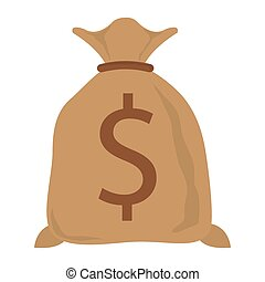 bag with money , Vector illustration