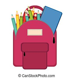 Bag with school supplies
