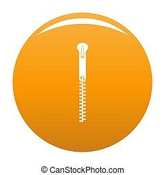 Bag zip icon orange