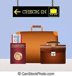 bagaż, zaszachowany