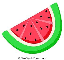 baga, fruta verão, sementes, melancia, fatia