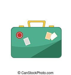 bagage, pictogram, illustratie, op wit, achtergrond.