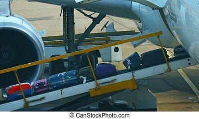 bagage, prise, convoyeur, être, haut, passengers', fédéral, ceinture, automatisé, cargaison