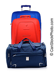 bagage, valises, isolé, grand, blanc, consister