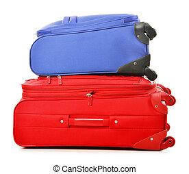 bagage, voyage, valises, grand, sac, blanc, consister