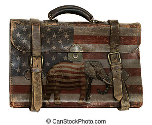 bagages, républicain, politique