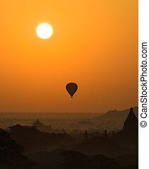 Bagan at sunrise, Myanmar