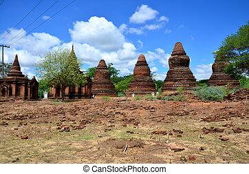 bagan, myanmar, oud, stad