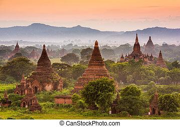 Bagan Myanmar - Bagan, Myanmar archeological zone.