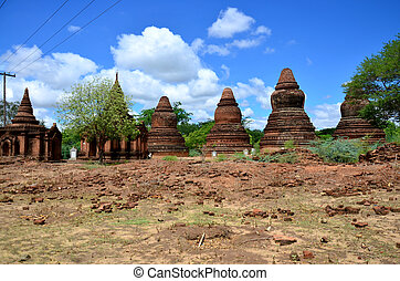 bagan, stad, oud, myanmar