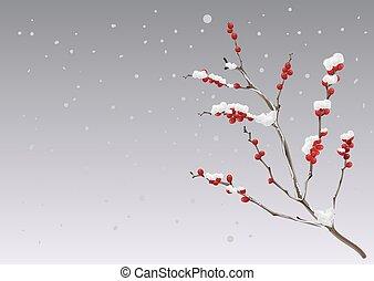 bagas, neve, ramo, sob