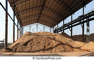 Bagasse stock pile