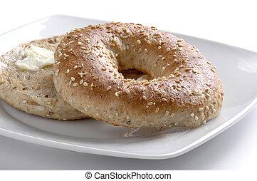 bagel, grillé