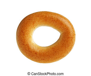 Bagel on a white background