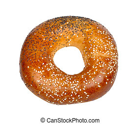 bagel on white