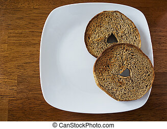 bagel, trigo, entero