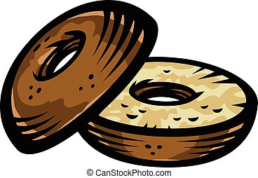 bagel illustrations and clipart 3 174 bagel royalty free rh canstockphoto com bagel day clip art bagel and coffee clip art