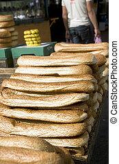 bageleh bread Jerusalem street market