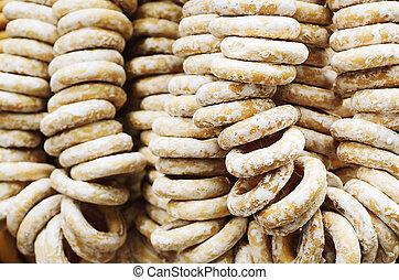 Bagels at market