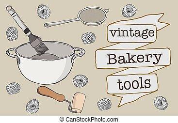 bageri, redskapen