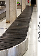 Baggage belt - Empty baggage claim area at airport