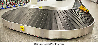 baggage belt - Empty baggage belt in the modern airport