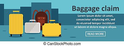 Baggage claim banner horizontal concept