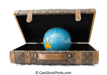 baggage Earth blue