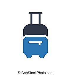 baggage  glyph color icon