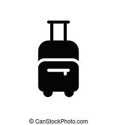 baggage  glyph flat icon