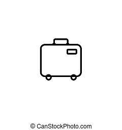 Baggage icon. Airport travel trip and tourism theme. Isolated design. Vector illustration. Isolated on white background.