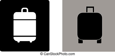 baggage icon on white background