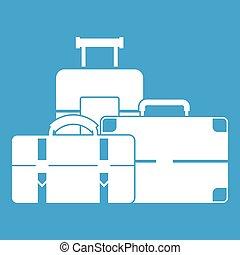Baggage icon white
