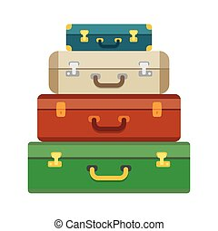 Baggage, luggage, suitcases on background. - Baggage luggage...