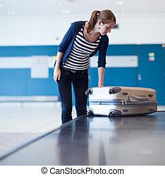 Baggage reclaim at the airport