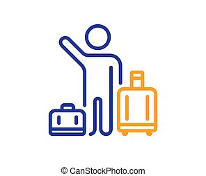 Baggage reclaim line icon. Airport transfer sign. Vector - ...