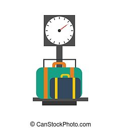 Baggage scales illustration