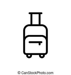 baggage  thin line icon