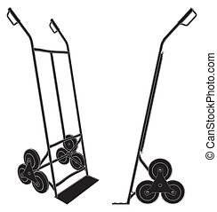 Baggage Trolley Cart Vector